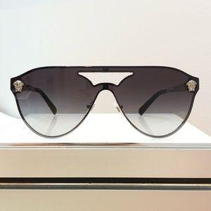 New Versace MOD2161 Gray Aviator Unisex Sunglasses